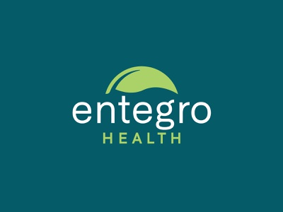 Entegro Before and After redesign rebrand health medicine probiotics leaf line identity branding vector design illustration icon logo