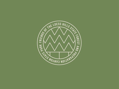 Forest Friends outdoors nature patch badge forest tree line identity branding vector design illustration icon logo