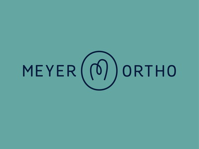 Meyer Orthodontics tooth orthodontist dental dentist m identity branding vector design illustration icon logo