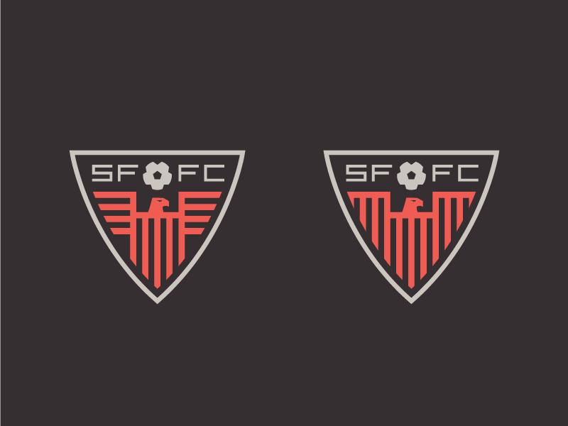 Thunder Crest team sports badge illustration ball thunder bird logo crest football soccer