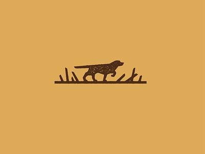 Hunting identity outdoor hunting gun dog animal badge line branding vector design south dakota illustration icon logo