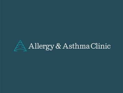 Allergy 3 triangle asthma allergy clinic doctor medicine health breath air a typography identity branding vector design illustration icon logo