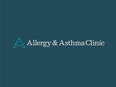 Allergy 3 triangle asthma allergy clinic doctor medicine health breath air a typography identity branding vector design illustration icon logo