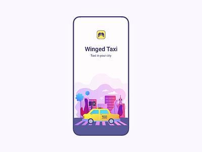 Winged Taxi app app design sketch after effect mobile app design mobile app app mobile animation design ux ui