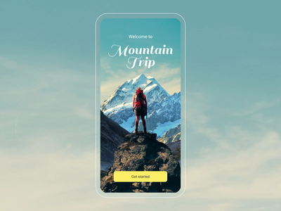 Onboarding for a Mountain Trip app onboarding parallax after effect mobile app design mobile app app mobile animation design ui