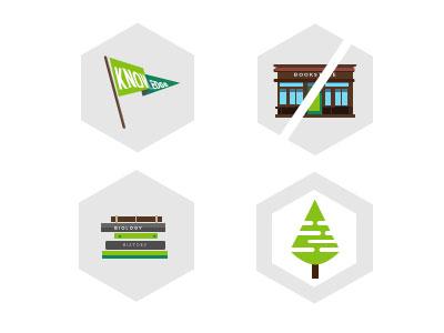 Icon hexagons