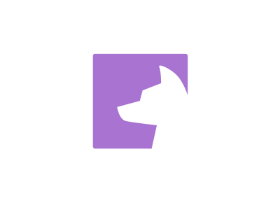 Hound CI Logo logo dog hound purple profile web