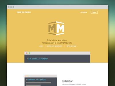 Middleman v4 Redesign redesign sketch orange landing page technical thoughtbot