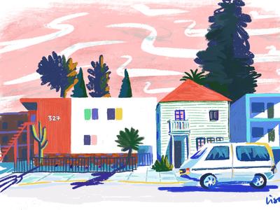 Illustration of Oakland CA street illustration procreate digitialillustration