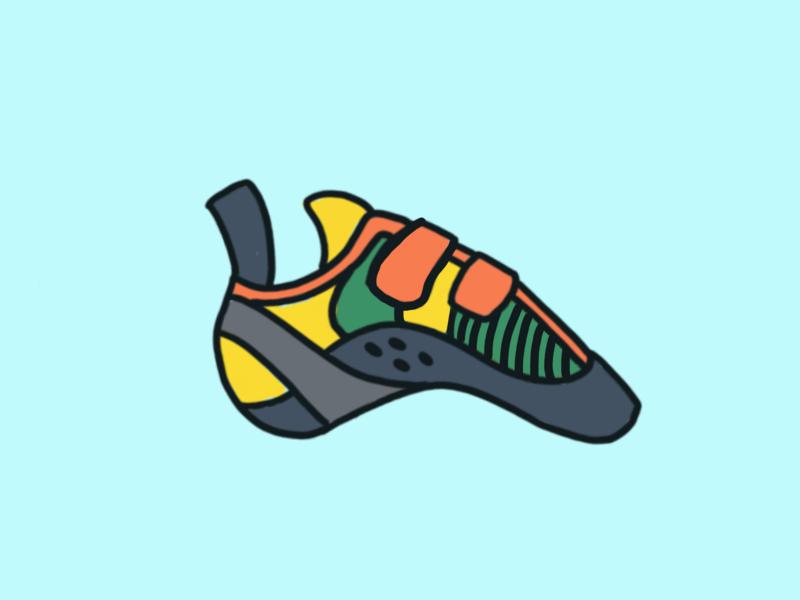 Climbing Shoes sport ipad procreate illustration