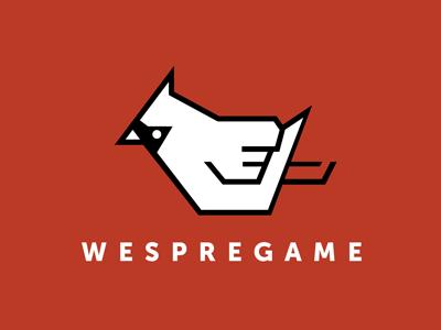 WesPreGame Logo logo illustrator bird red