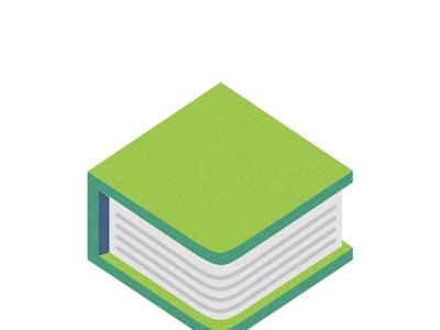 Texts logo illustrator book green