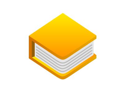 Texts — Orange orange logo book illustrator gradient