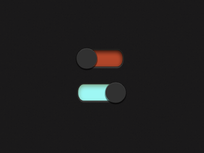 Toggle Button button dark on off left right photoshop