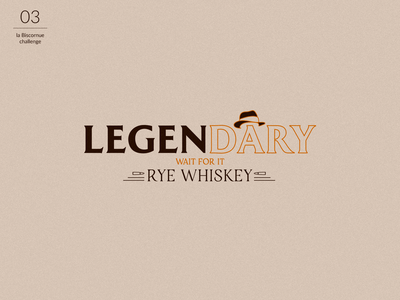 Legen...Dary : Logo whiskey brand