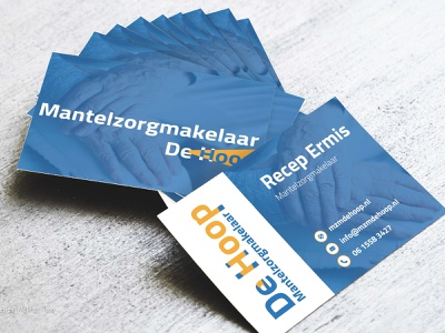 Business Cards - MZM design design agency blue yellow graphic design brand identity business card