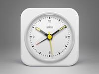 White BRAUN clock icon