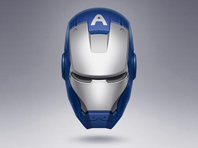 IRON MAN (Captain America) futurism technology helmet head blue metal iron man icon captain america
