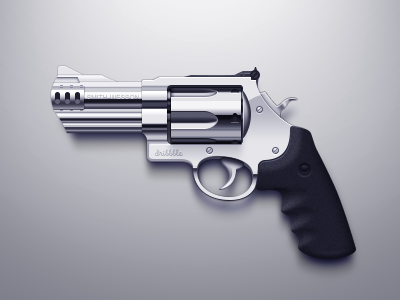 Revoler icon metal handgun pistol revolver icon gun