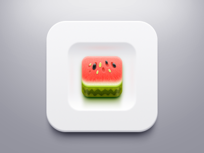 Watermelon within the plate summer seed white green red fruit watermelon icon app plate