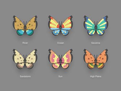 Pokémon XY Vivillon multicolour butterfly icon pokémon vivillon 3ds pokémon xy nintendo