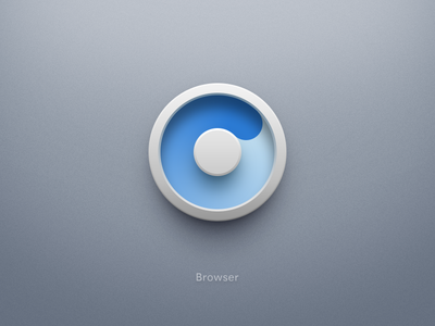 Smartisan OS Browser icon spin circle blue white browser icon smartisan os