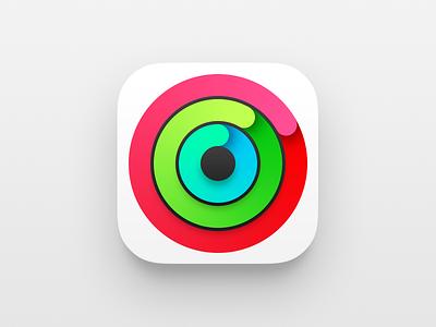 Apple Watch Activity icon circle gradient blue green red app apple watch activity icon apple watch