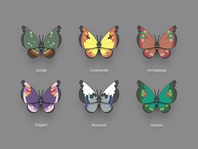 Pokémon XY Vivillon multicolour butterfly vivillon pokémon 3ds icon nintendo pokémon xy