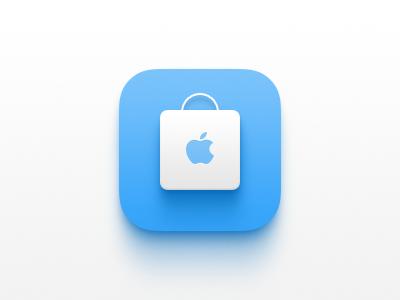 Apple Store light shopping blue app apple store apple icon