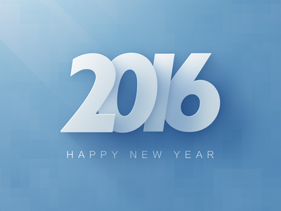 Happy New Year white light blue new year makehave 2016