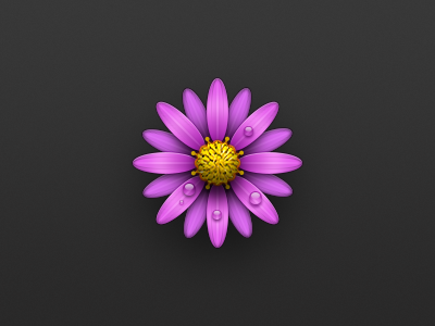 Flower icon android yellow purple drop icon flower