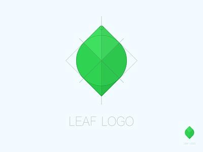 Leaf logo formulated regular green logo leaf