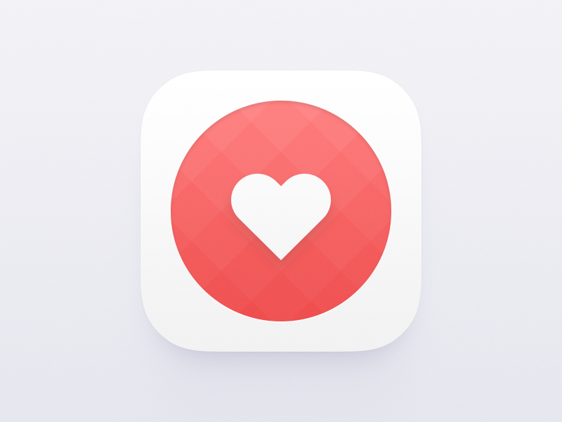 Like icon white gradient squares preference favor ios red heart app icon like