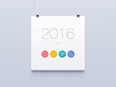 Summer calendar ui icon may 2016 summer