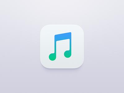 Apple Music green blue ios ui icon music apple