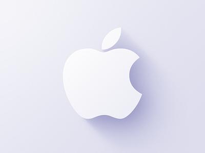 Apple Logo light logo apple