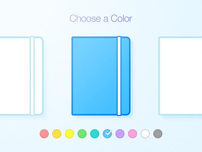 Choose a Color blue note ui icon color choose