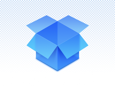 Transparent Box blue icon box transparent