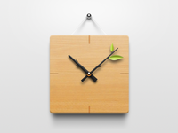 Clock of wood and branches