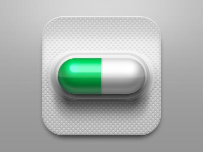 Capsule icon plastic metal ios capsule icon app ui medical green
