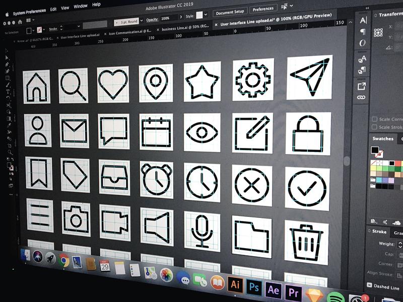 My icon design process vector ux ui illustration icon graphicdesign graphic design app