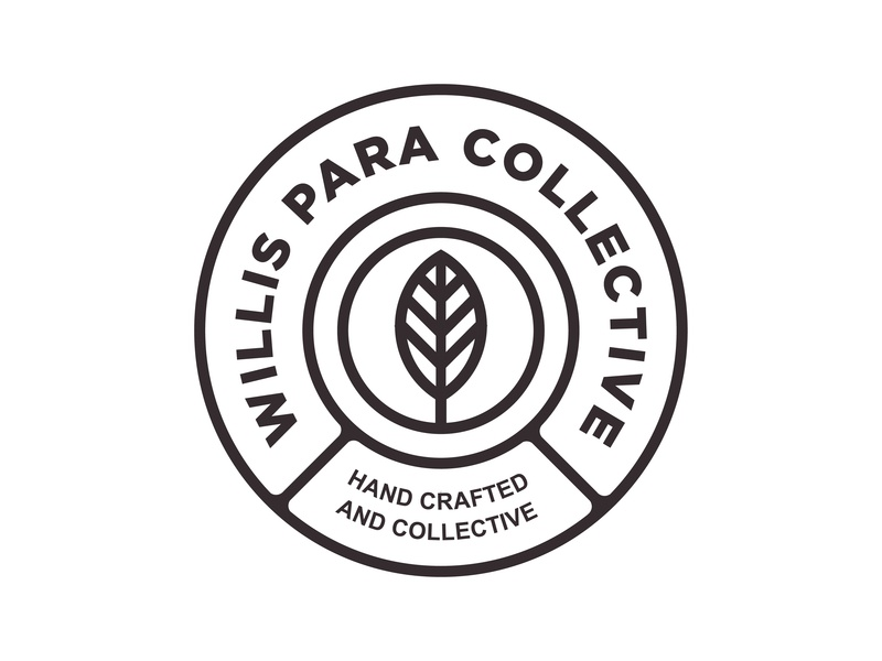 Willis Para Collective handcraft brew packaging logo branding badge design