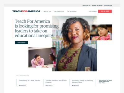 Teach For America Homepage
