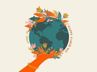 Earth Day world illustration design illustration art vibrant flat procreate earthday earth illustration