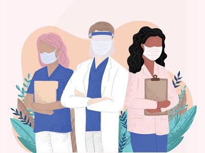 Nurse Week iowa illustration digital people professional nurse week nurse procreate texture illustration design illustration
