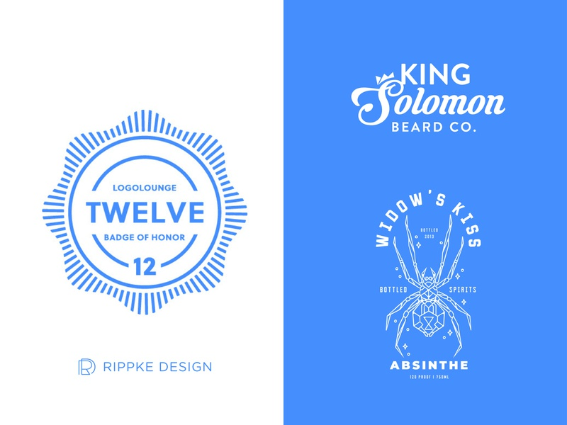 Logo Lounge Book 12 Winner badge of honor badge line icon line art logotypes logo lounge branding beard balm ames iowa logodesign logo