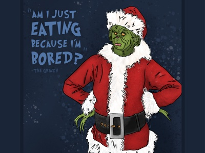 The Grinch shading texture christmas grinch quote apple pencil drawing how the grinch stole christmas the grinch procreate illustration