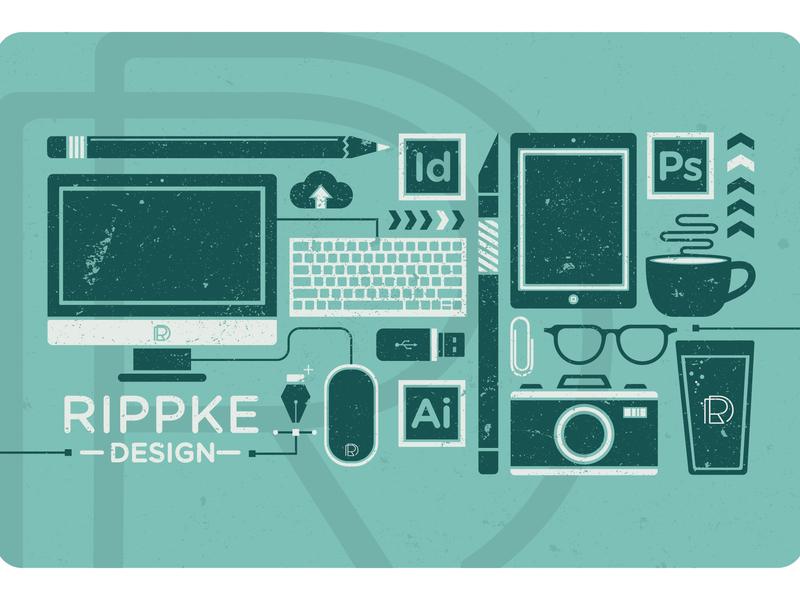 Rippke Design Self Promotion self identity design agency graphic design illustration branding self branding self promotion self promo