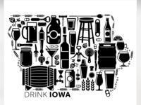 Drink Iowa Print