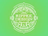 Rippke Design Pint Glass 2019
